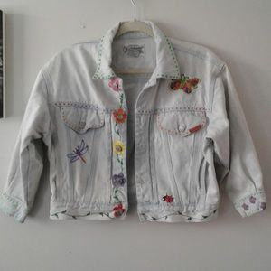 Vintage hand painted Jordache denim jacket